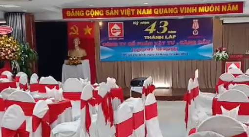 Tiệc kỷ niệm 43 năm thành lập Công ty cổ phần Vật Tư - Xăng Dầu